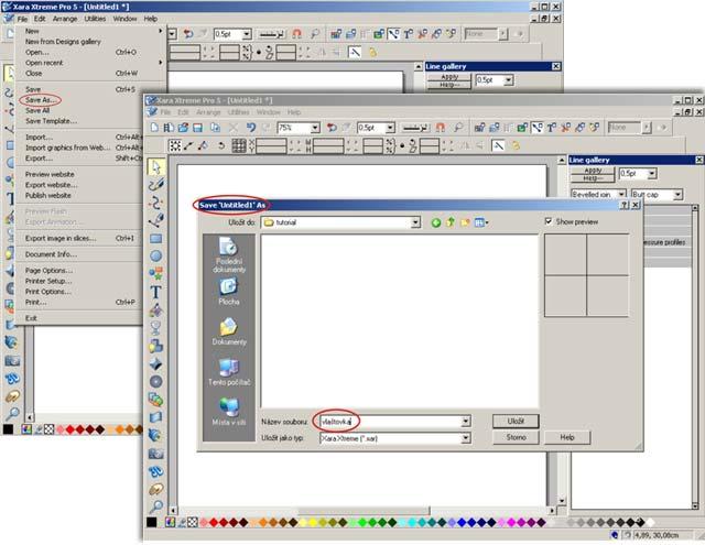 Tutorial - práce v Xara Xtreme Pro