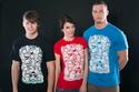 náhled - Doodle modré pánské tričko
