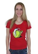 náhled - Granátové jablko červené dámské tričko