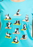 náhled - Pandí jóga dámské tričko