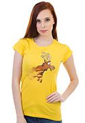 náhled - Stírací los žluté dámské tričko