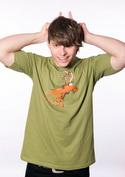 náhled - Stírací los zelené pánské tričko