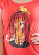 náhled - Odplata červené dámské tričko