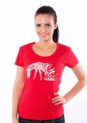 náhled - Zebrovaná láska dámské tričko