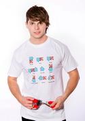 náhled - Puzzlesútra bílé pánské tričko