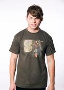 náhled - Winter is Coming zelené pánské tričko