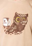 náhled - Sova na kofeinu pánské tričko