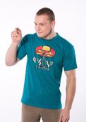 náhled - Červotoč modré pánské tričko