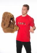 náhled - Opice červené pánské tričko