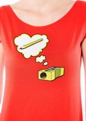 náhled - Ořezávátko červené dámské tričko