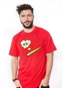 náhled - Tužka červené pánské tričko