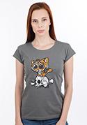 náhled - Tygřík šedé dámské tričko