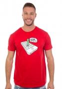 náhled - Wrong Apple červené pánské tričko