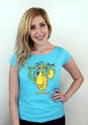 náhled - Citrón modré dámské tričko