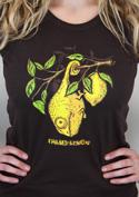 náhled - Citrón hnědé dámské tričko