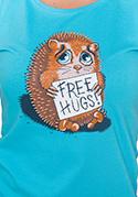 náhled - Objetí zdarma modré dámské tričko