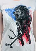 náhled - Hokejový lev šedé dámské tričko