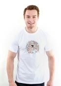 náhled - Nejdu s davem bílé pánské tričko