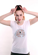 náhled - Nejdu s davem bílé dámské tričko