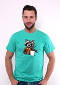 náhled - Strážci galaxie zelené pánské tričko