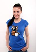 náhled - Strážci galaxie modré dámské tričko