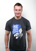 náhled - Radši osobně tmavě šedé pánské tričko