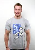 náhled - Radši osobně světle šedé pánské tričko