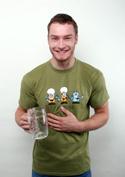 náhled - Pivoni zelené pánské tričko