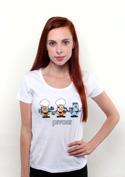 náhled - Pivoni bílé dámské tričko