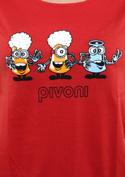 náhled - Pivoni červené dámské tričko