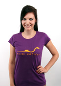náhled - Najdi kočičku fialové dámské tričko