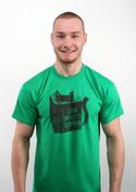 náhled - Povinná četba zelené pánské tričko