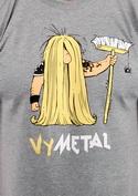 náhled - Metalista světle šedé pánské tričko