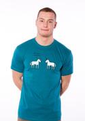 náhled - Pornorožec modré pánské tričko