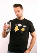 náhled - Opilé brambory černé pánské tričko