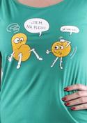 náhled - Opilé brambory zelené dámské tričko