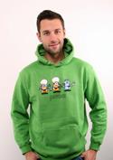 náhled - Pivoni zelená pánská mikina