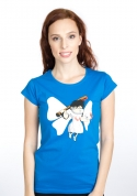 náhled - Zoubková víla modré dámské tričko