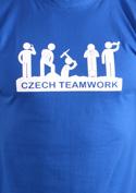 náhled - Czech Teamwork modré pánské tričko