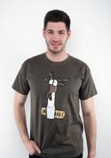 náhled - Jelení lůj zelené pánské tričko