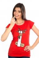 náhled - Jelení lůj červené dámské tričko