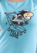 náhled - Teleshopping modré dámské tričko