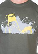 náhled - Lesní harmonie khaki pánské tričko