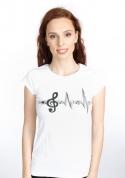 náhled - Žiju muzikou dámské tričko