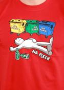 náhled - Tříděný odpad červené pánské tričko
