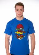 náhled - Pokémon burger modré pánské tričko