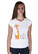 náhled - Žirafa dámské tričko