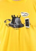 náhled - Telefon v důchodu žluté pánské tričko