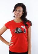 náhled - Telefon v důchodu červené dámské tričko