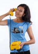 náhled - Telefon v důchodu modré dámské tričko